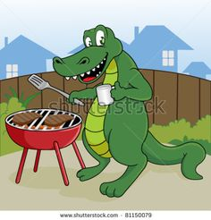 Alligator clipart gumbo Outdoor crocodile Funny+Alligator+Clip+Art Crocodile