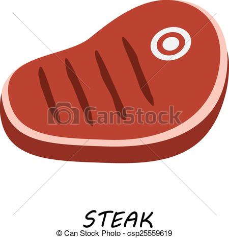 Steak clipart piece meat Of of cuts meat a