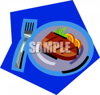 Steak clipart plate food A Steak Clipart Cooked Cooked