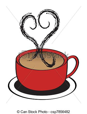 Steam clipart coffee heart Cup with Heart coffee A
