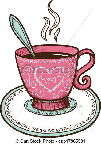 Steam clipart coffee heart Or steam cup coffee