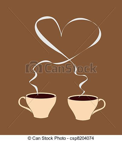 Steam clipart coffee heart Coffee of shaped with with