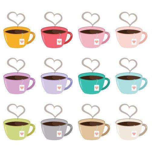 Steam clipart cute Day treat! tag mug tag