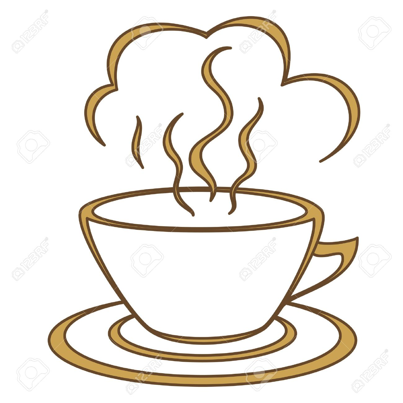 Teacup clipart coffee morning Steam joyful good cup coffee