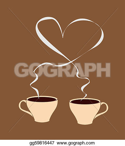 Steam clipart hot coffee With coffee shaped coffee heart