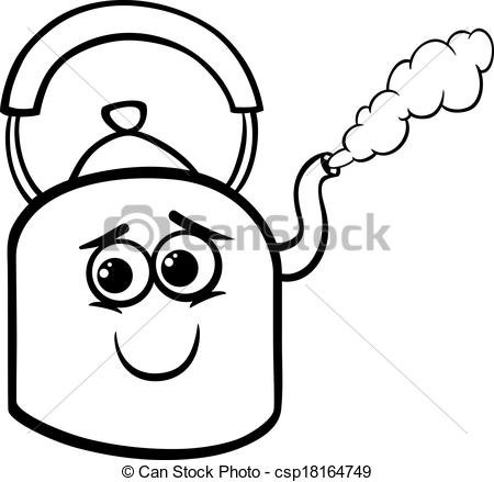 Kettle clipart kettle steam And Vector  of coloring
