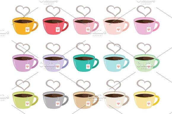Steam clipart tea Art Steam Set Mug Tea