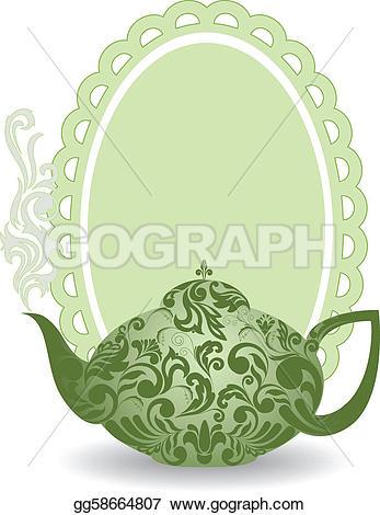 Steam clipart teapot Beautiful Vector ornament Vector Drawing