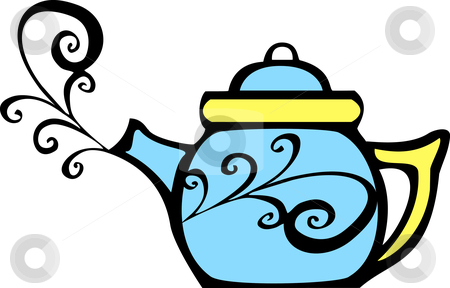 Steam clipart teapot Swirl Teapot Swirl vector stock