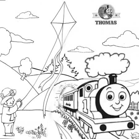 Steam clipart thomas the train Train the Tomy kite Sheets