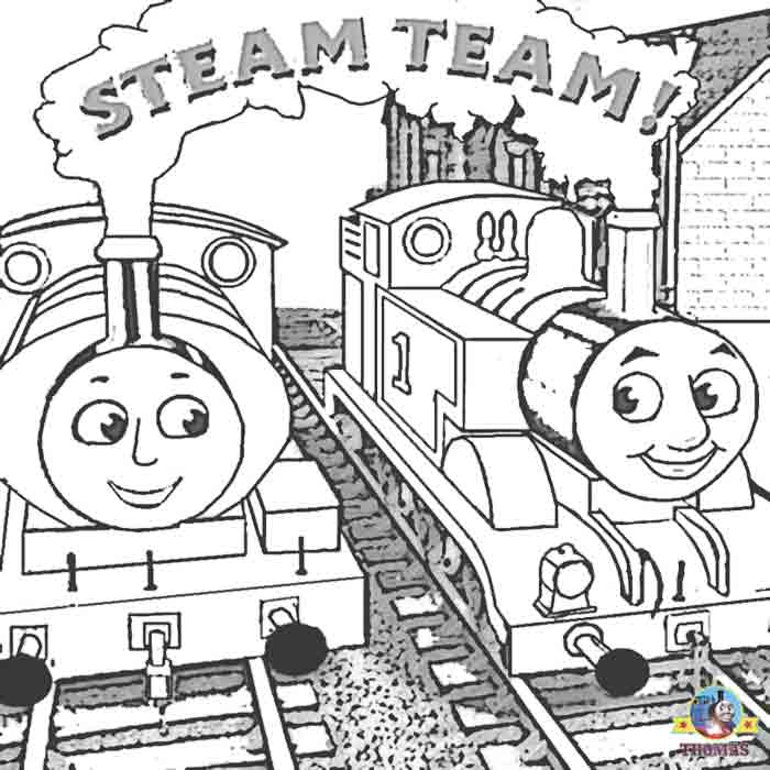 Steam clipart thomas the train And Thomas engine train coloring
