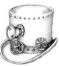 Drawn top hat clip art Pinterest Coloring Steampunk Images images