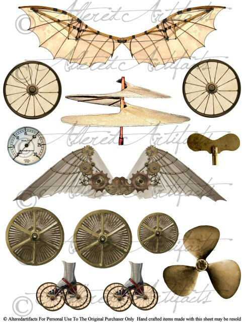 Steampunk clipart safari Resolution Clipart  487x642 Steampunk