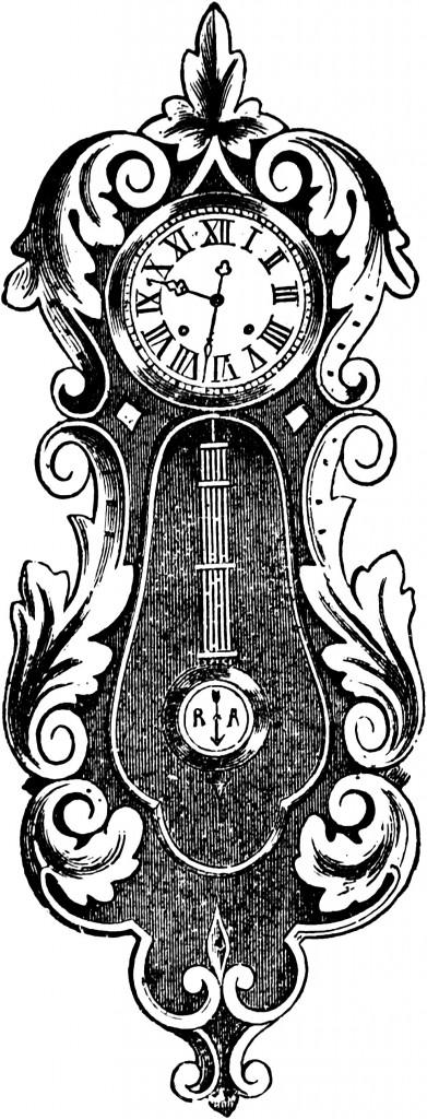 Steampunk clipart antique clock Vintage Vintage Oh black Clip