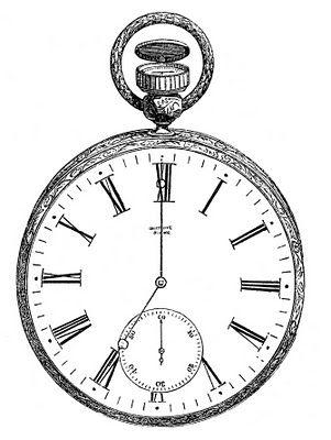 Steampunk clipart antique clock Vintage Pocket 201 Pinterest Clip