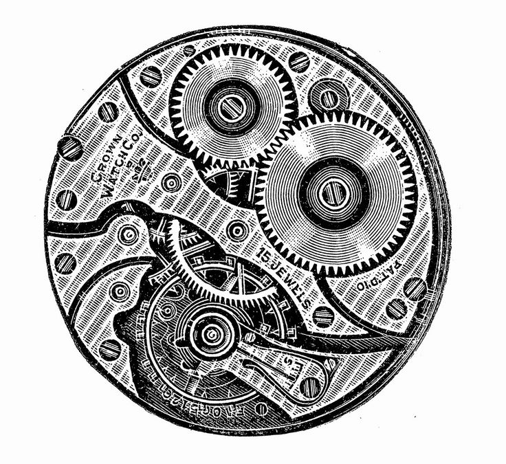 Steampunk clipart black and white On Graphics Resources Pinterest Gears