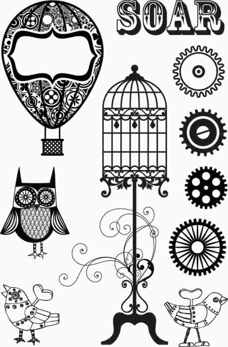 Steampunk clipart black and white Search clip Pinterest Google