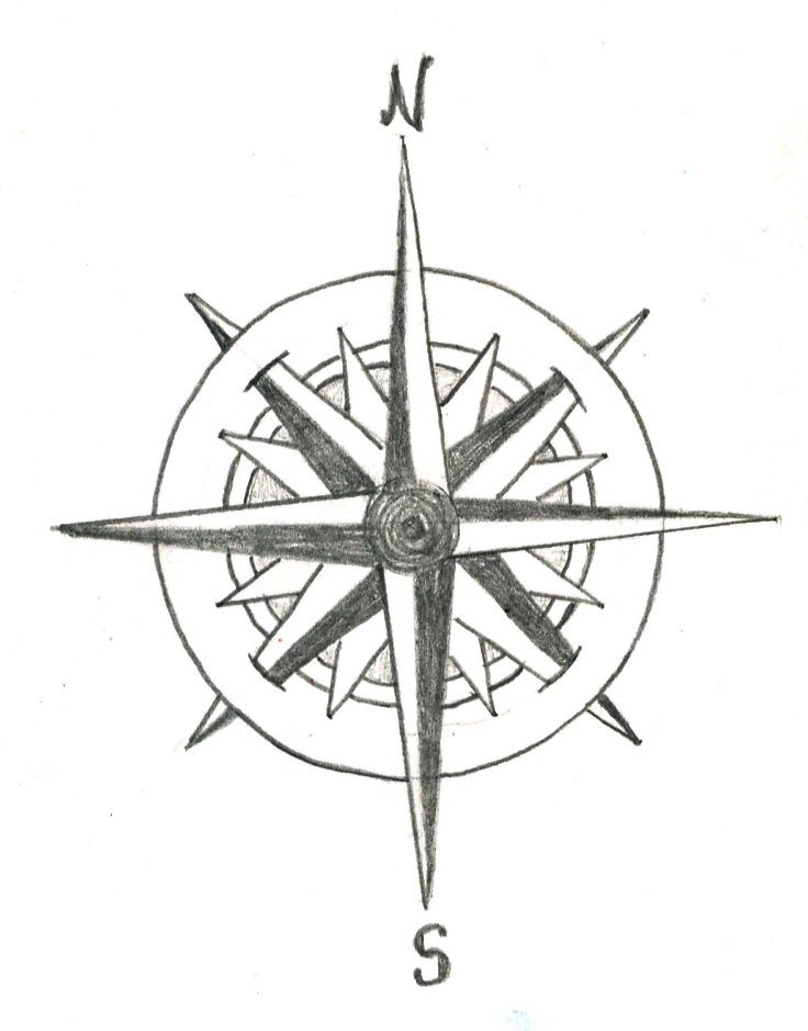 Drawn compass old school Clip Free Download Art on