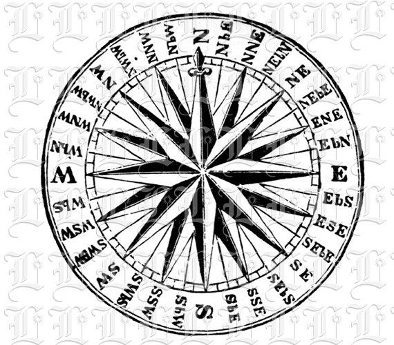 Drawn compass naval Art Navy Clip Compass Art