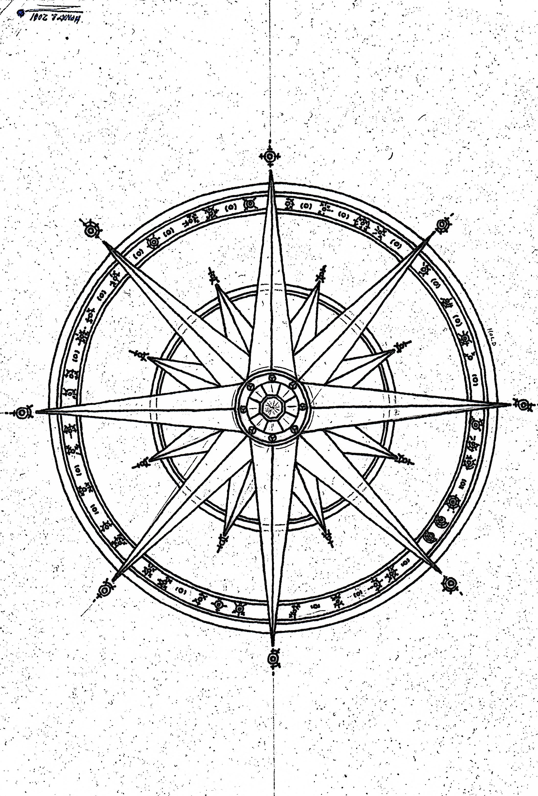 Drawn compass simple black Tenebrae com com Athalai Simple