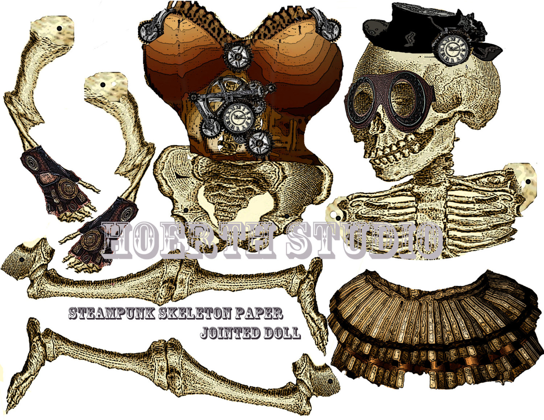 Steampunk clipart halloween Etsy steampunk Popular  skeleton