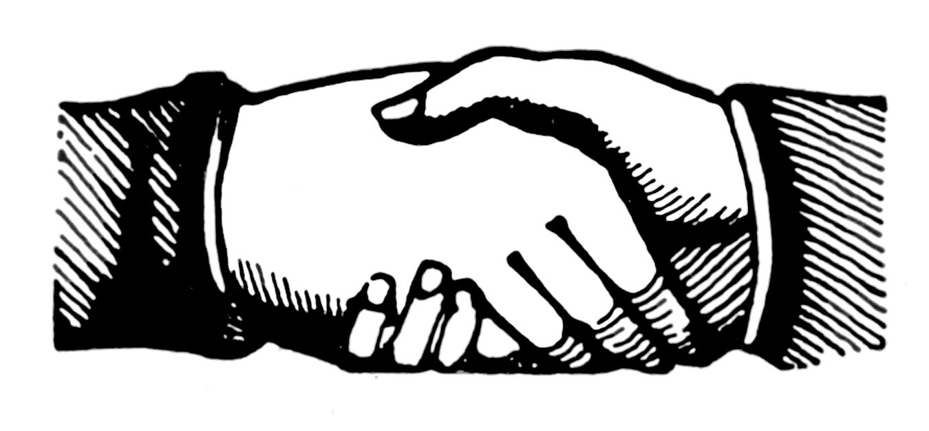 Business clipart hand shaking Victorian Free  Clip Art
