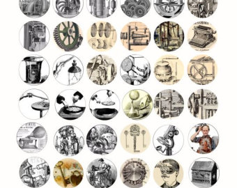 Steampunk clipart invention Download digital Steampunk clip art