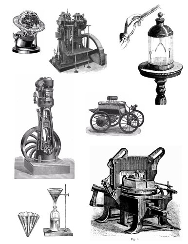 Steampunk clipart invention Collage quality Designers steampunk Jewelry