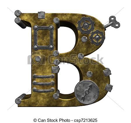 Steampunk clipart letter Illustration Illustrations background letter Stock