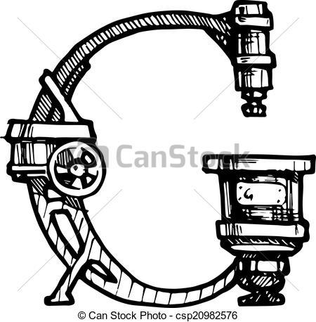 Steampunk clipart letter Clip Clip Letters Steampunk Clipart