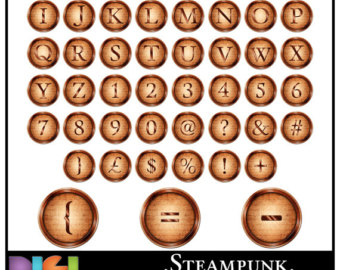 Steampunk clipart letter OFF Symbols Steampunk Art &
