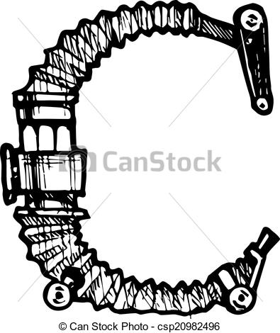 Steampunk clipart letter Steampunk font made Steampunk different