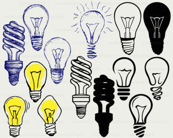 Bulb clipart statement problem Light art bulb bulb Etsy