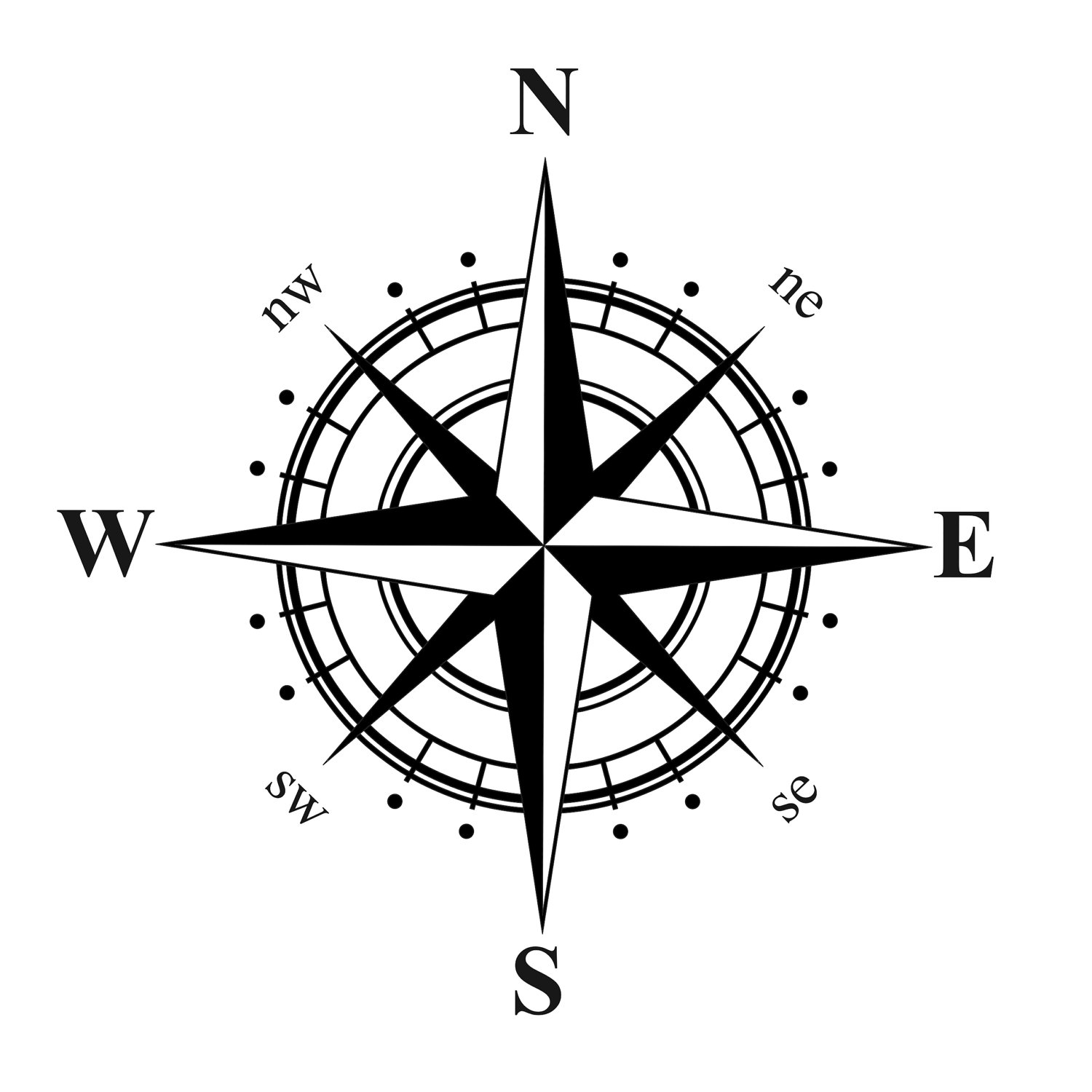 Steampunk clipart north arrow  Compass All Nautical Rose