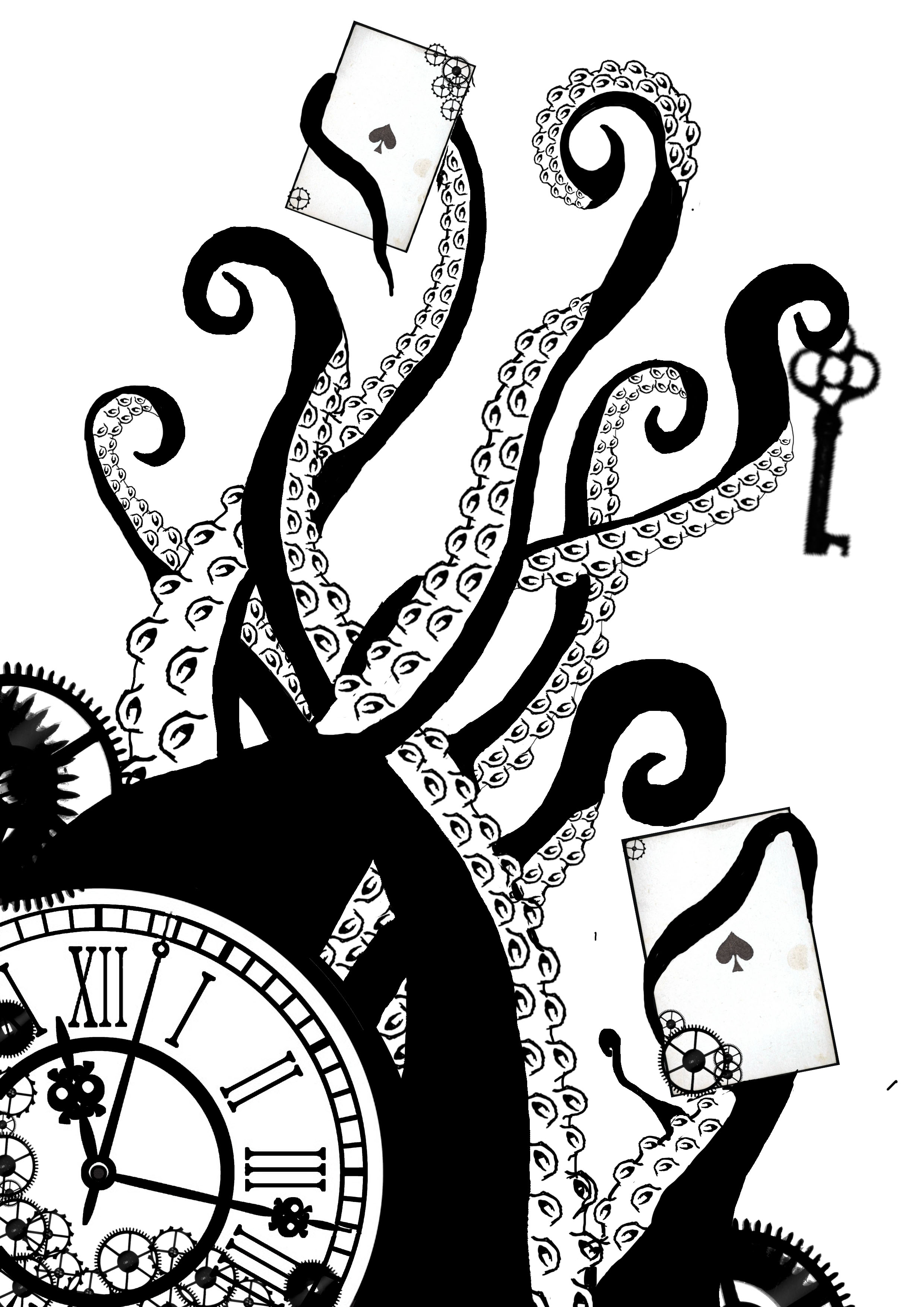 Octopus clipart steampunk Drawing  Google Pinterest Search
