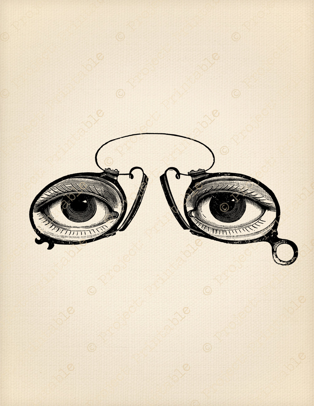 Steampunk clipart printable Fabric Spectacles Instant Spectacles Art