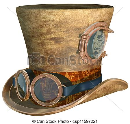 Steampunk clipart royalty free Of Hat Isolated Hat Steampunk