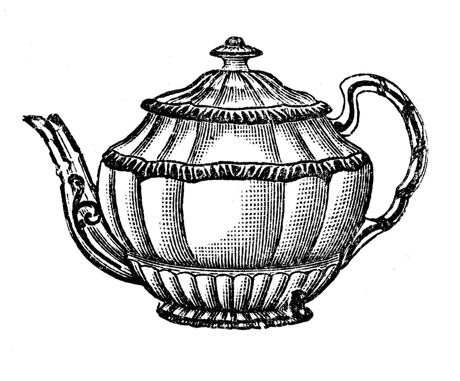 Drawn teacup crockery #1