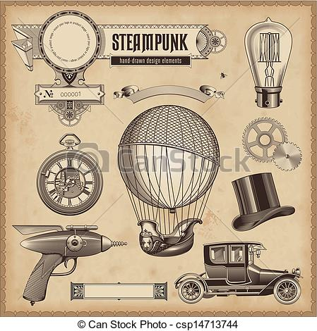 Steampunk clipart they Stock royalty design Steampunk illustration