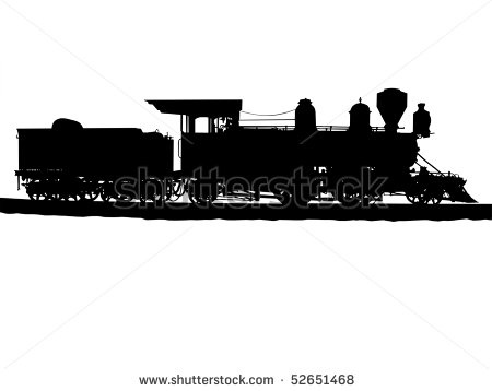 Steampunk clipart train Old Steam 52651468 36 Stock