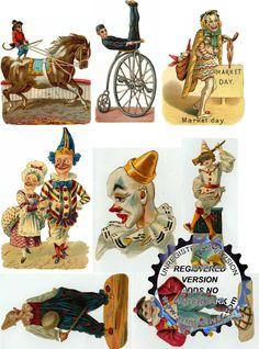 Carneval clipart retro Resizable Art for digital of