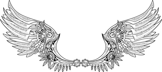 Wings clipart steampunk Made Mechanical et Photos wings