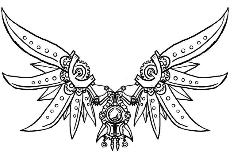 Wings clipart steampunk 2 Steampunk by Wings Wings