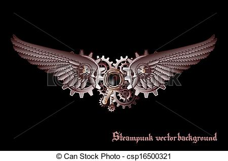 Wings clipart steampunk Vector Steampunk Steampunk Illustration wings