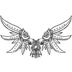 Wings clipart steampunk Http://www more  phoenix steampunk