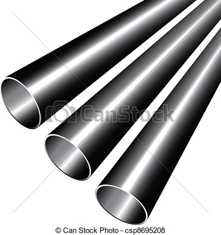 Pipe clipart steel Clip Vector  Vector pipes