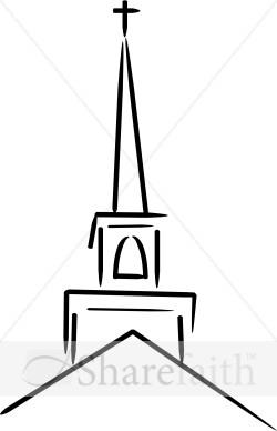Steeple clipart baptist church Church Clipart Topped Cross Church