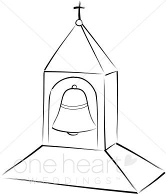 Steeple clipart english church Bell Bell Wedding Christian Steeple