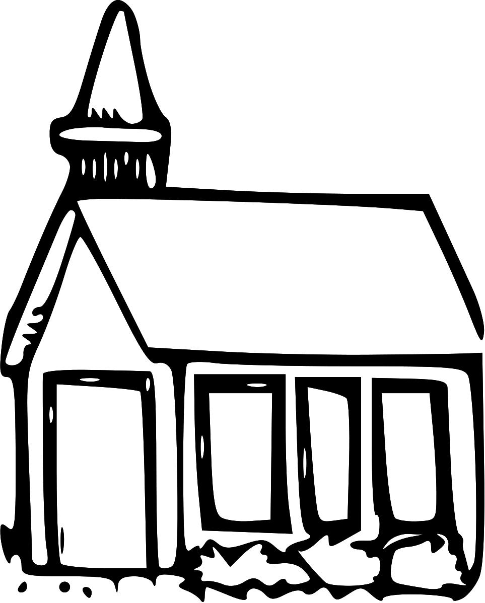 Steeple clipart english church Panda Clip And Art Black
