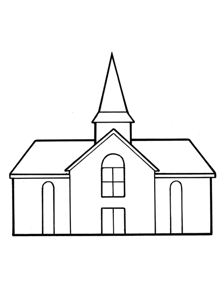 Building clipart lds church Of Church A single black